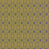 Feathered Ovals Gold Violet