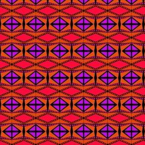 Purple Boxes Orange Diamonds 1