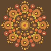 Autumn Mandala on Brown