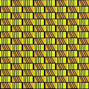 Zig Zag Lines Yellow Gold