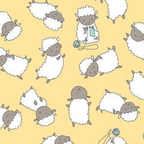 Happy Sheep - Soft Yellow