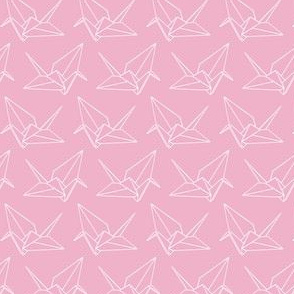 Origami Crane Outlines: Bubblegum