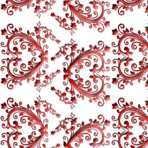 Floral Hearts Seamless Pattern White