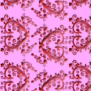 Floral Hearts Seamless Pattern Pink
