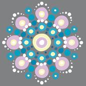 Winter Mandala on Gray