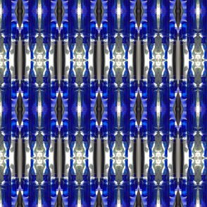 Blue bottles mirrored