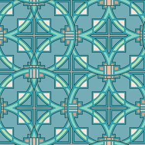 Pueblo Deco in turquoise