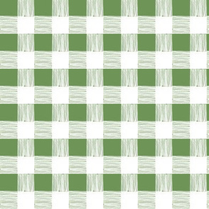 buffalo check - green - large scale