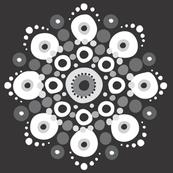 Neutral Mandala on Black