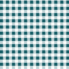 gingham - teal blue