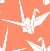Origami Cranes: Coral