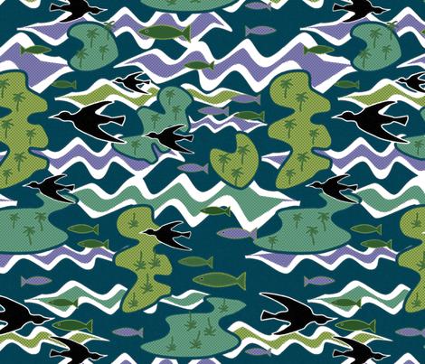 Island of Purple Waves Large