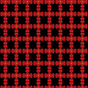 Puzzle Beads Red on Black