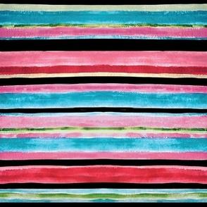 Woodlands Watercolour Stripe
