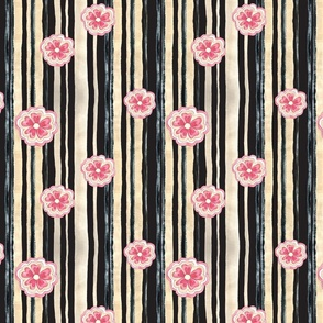 Woodlands Floral Stripe