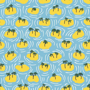 Tropical Island Polka Dots