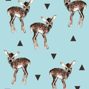 Fawns + Triangles -  Light Blue