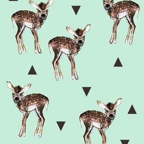 Fawns + Triangles - Mint