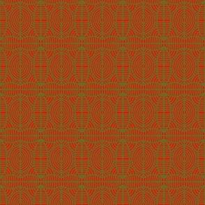 Tribal Shields Orange Green