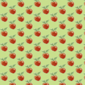 Red Apples on Green