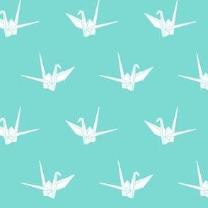 Origami Cranes: Aqua