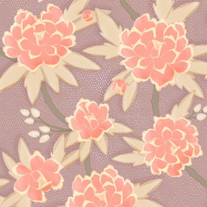 Paeonia, in Coral and Lavender