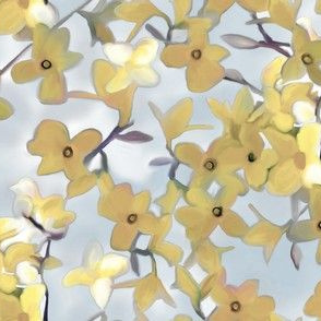 Forsythia with Muted Tones