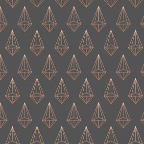 Grey Geometric kite