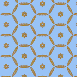 Northmore ~ Jasper Blue and Gilt Gold