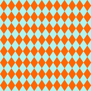 Orange And Light Teal Diamonds
