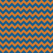 Orange and Blue Chevron