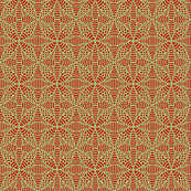 Petals and Fish Red Beige
