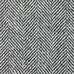 Herringbone Tweed in Black and White