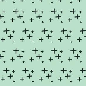 Mint Hand Drawn Cross