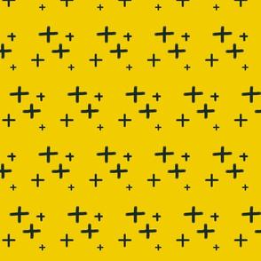 Mustard Hand Drawn Cross