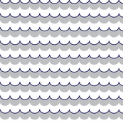 Nautical Coord - Scallops Navy