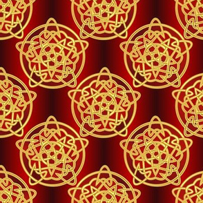 knotted pentatram, formal red