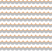 Nautical Coord- Scallops Orange