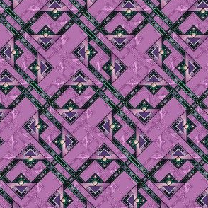 deco rectangles in mauve