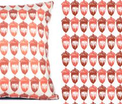 Acorns Deep Coral & Terracotta