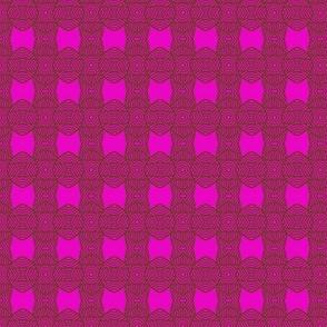 Circles and Bows Pink Brown 2