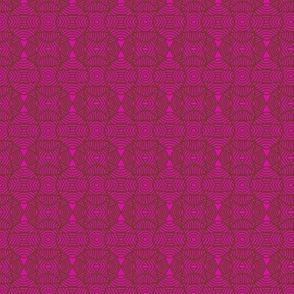 Circles and Bows Pink Brown 1