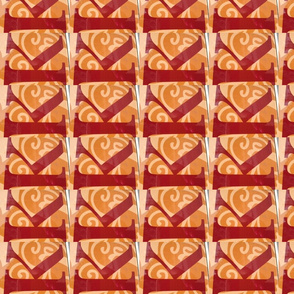 Red K on orange