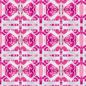 K on pink