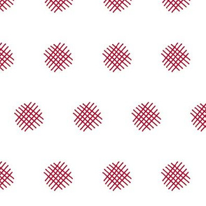 Red Crosshatch (White)