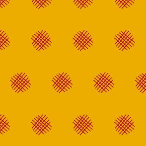 Red Crosshatch (Yellow)