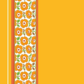 seventies pop art floral border