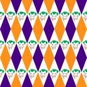 Joker Orange Purple Diamond Harlequin