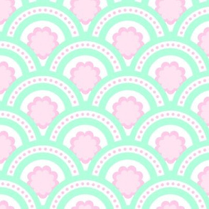 mint and rose scale pattern