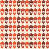 Acorns Small Stripe - Autumnal Orange Mix